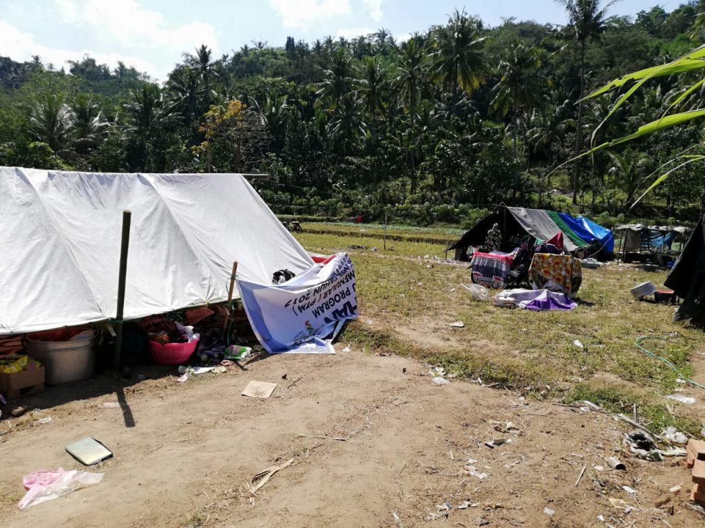 Tenda Pengungsian Rodja Peduli Lombok Tahap 2