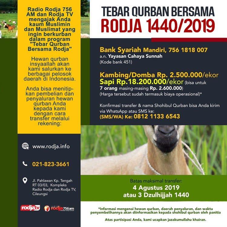 Tebar Qurban Bersama Rodja 1440 2019