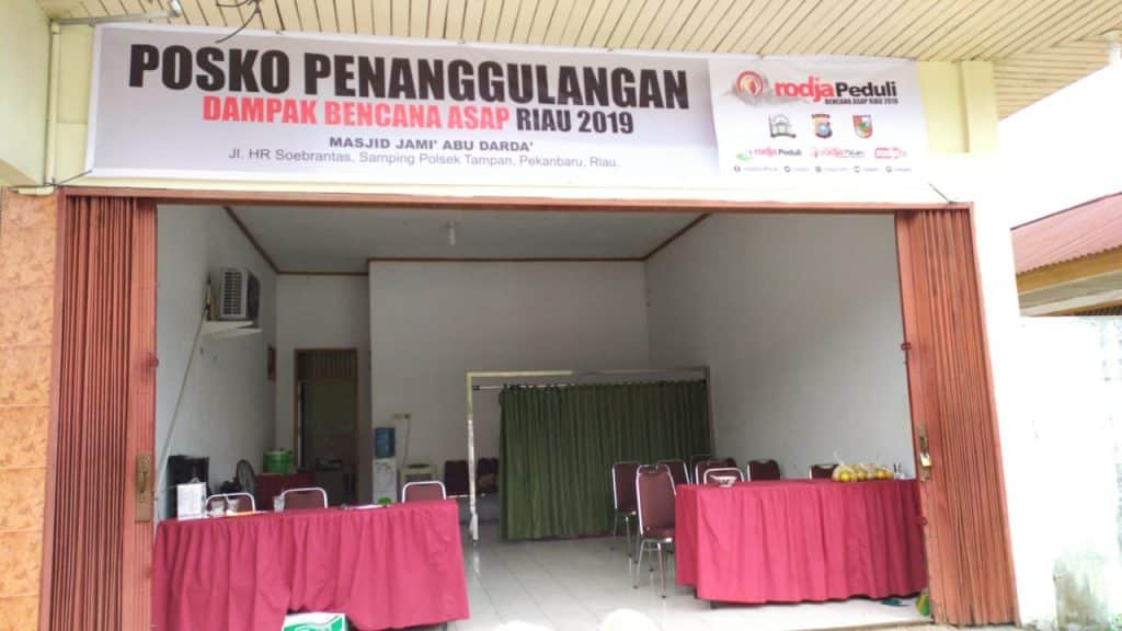 Rodja Peduli Mendirikan Posko Penanggulangan Dampak Bencana Asap di Pekanbaru