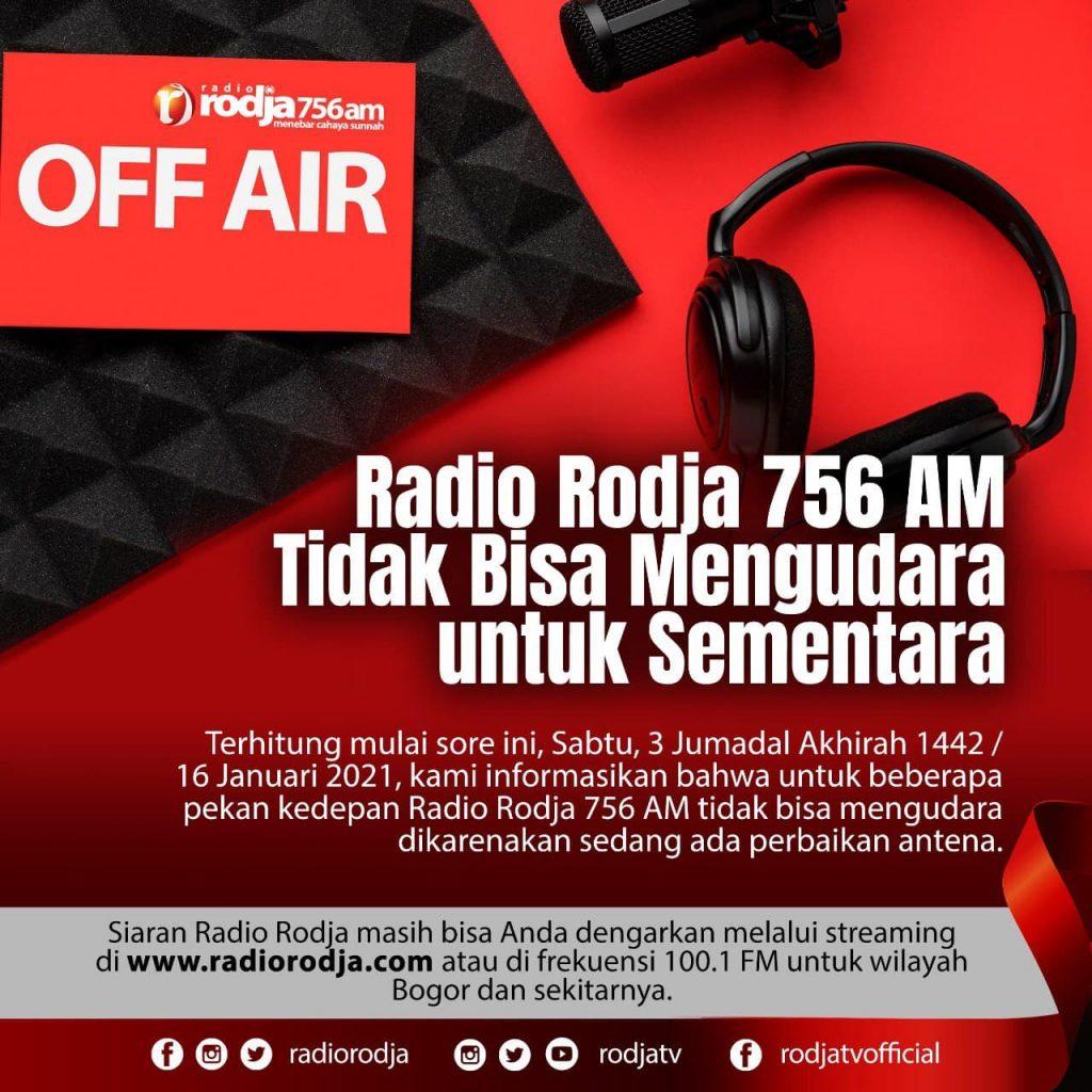 Radio Rodja 756 AM Tidak Bisa Mengudara untuk Sementara